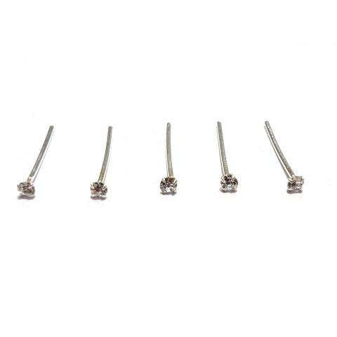 Piercing nez strass 1.5mm par boite de 36 pièces