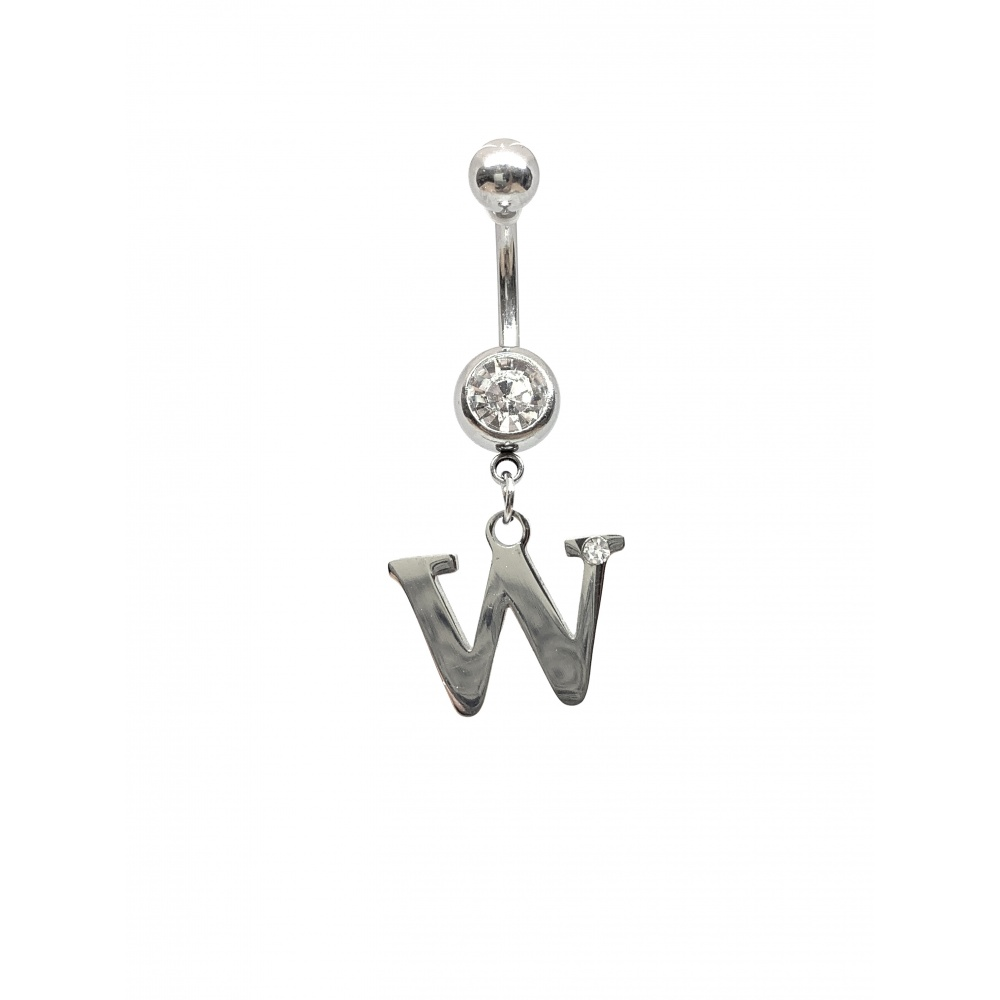 Piercing nombril initiale strass
